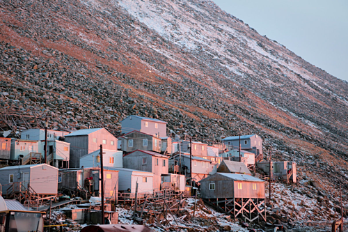 Ignaluk Village on Small Diomede Island
