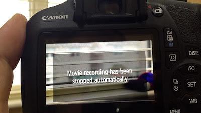 Cara Mengatasi MeRekam Video Dengan DSLR Sering Berhenti