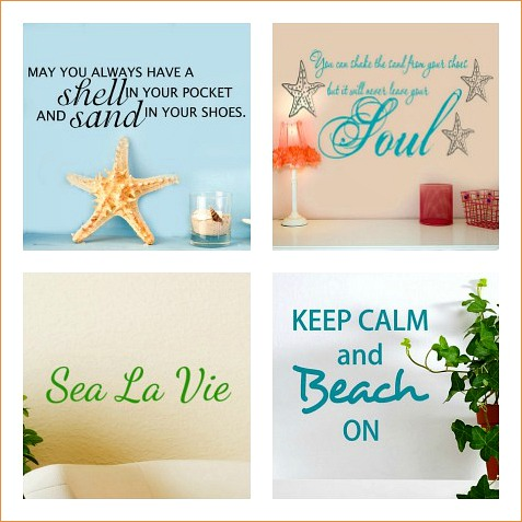 Beach Wall Decals, Words, Beach Quotes
