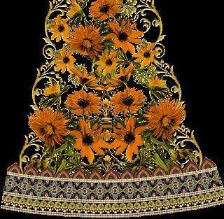 flower-emboss-textile-border