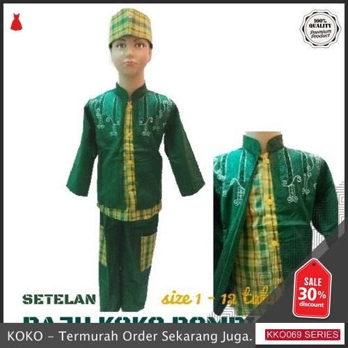 KKO69 AMS143 Setelan Baju Koko Rompi Anak Adrian Murah BMGShop