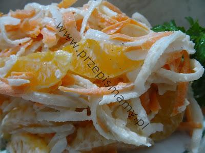 Sałatka z rzodkwi i marchewki