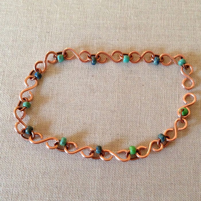 S Link Chain with Beads Project, DIY by Lisa Yang Jewelry