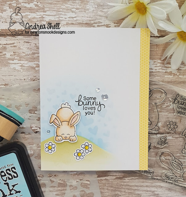 Some bunny love you by Andrea features Bitty Bunnies by Newton's Nook Designs; #newtonsnook