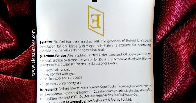 Richfeel Brahmi Hair Pack- Review