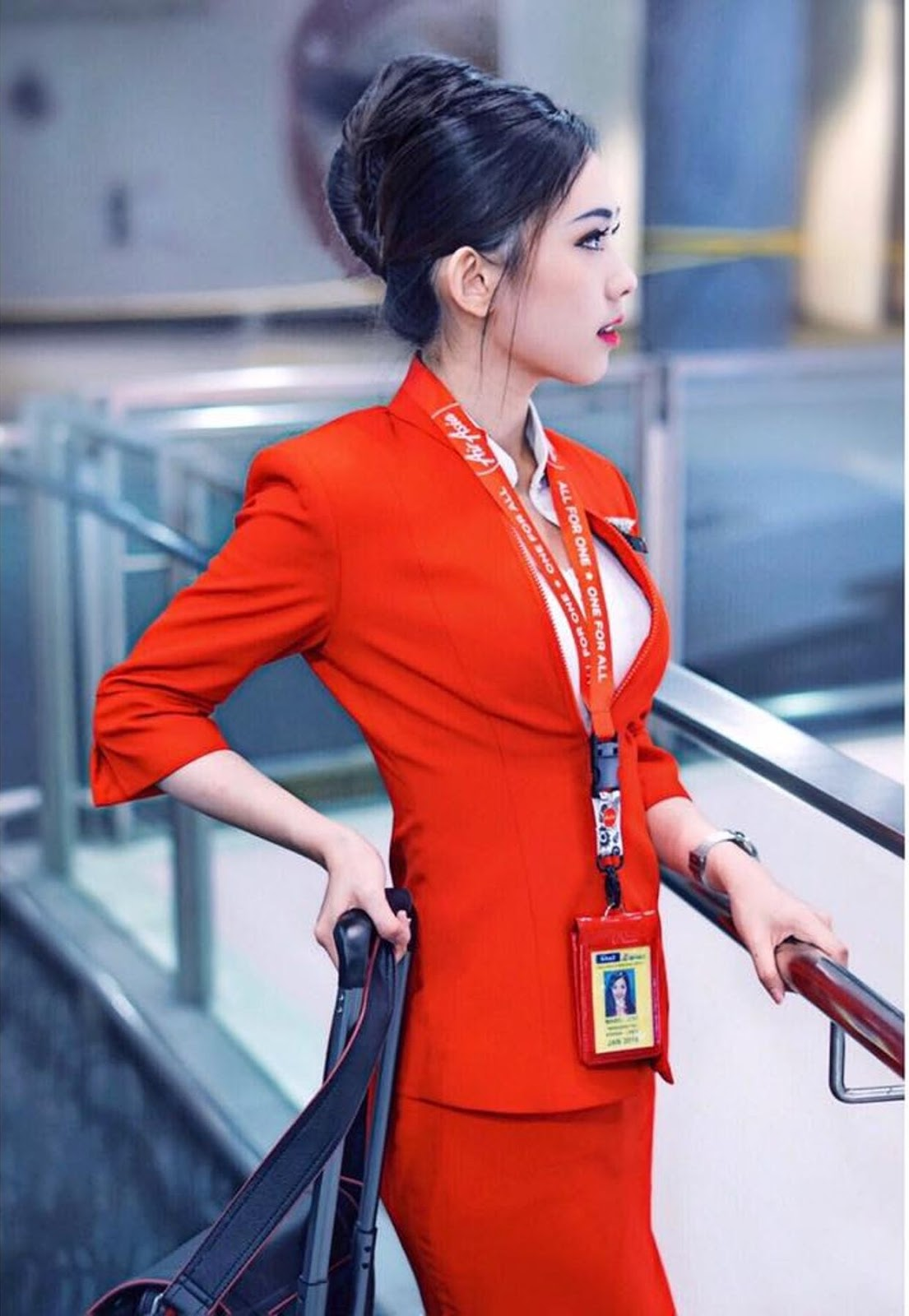 AirAsia flight attendant 'soaring high', posted on Tuesday, 23 October 2018