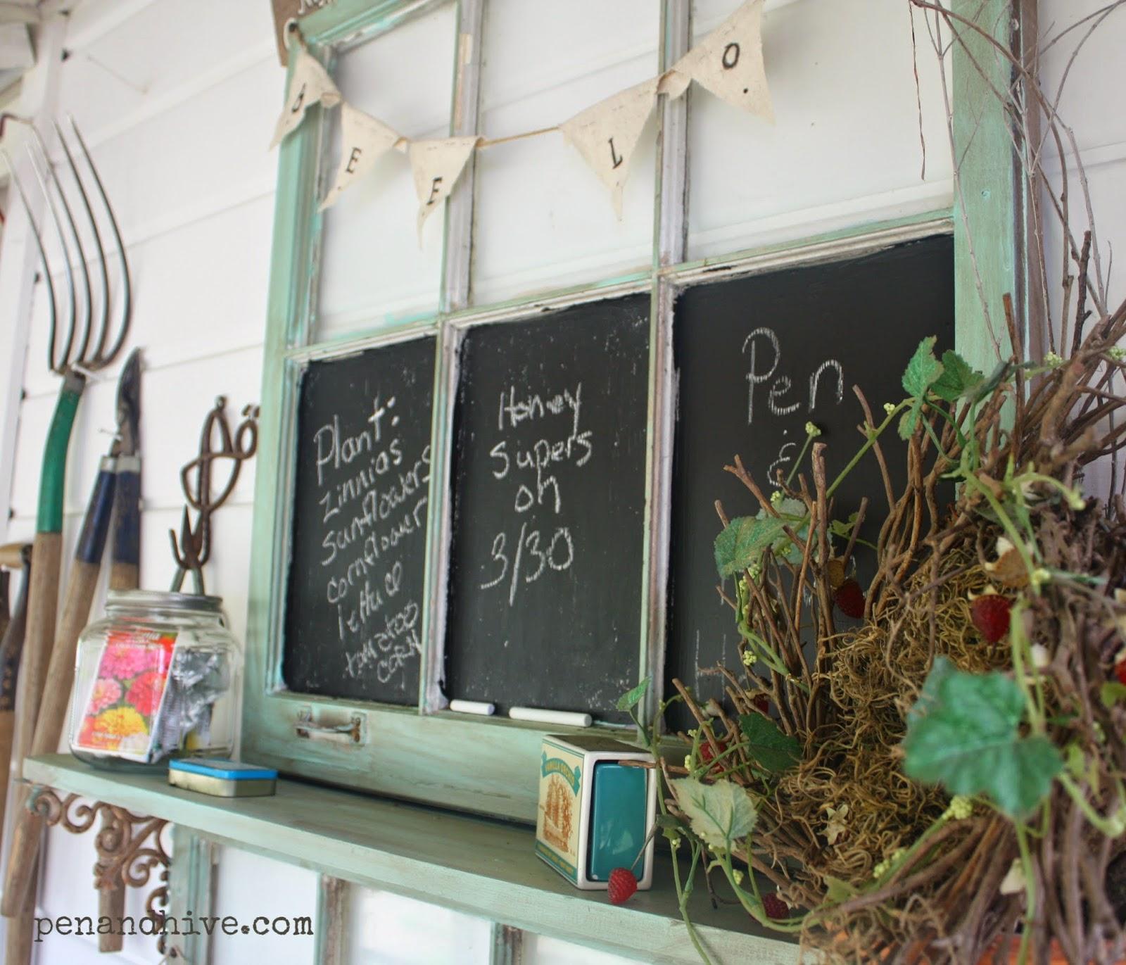 window chalk board