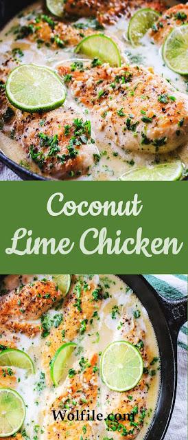 COCONUT LIME CHICKEN #Coconut #Chicken