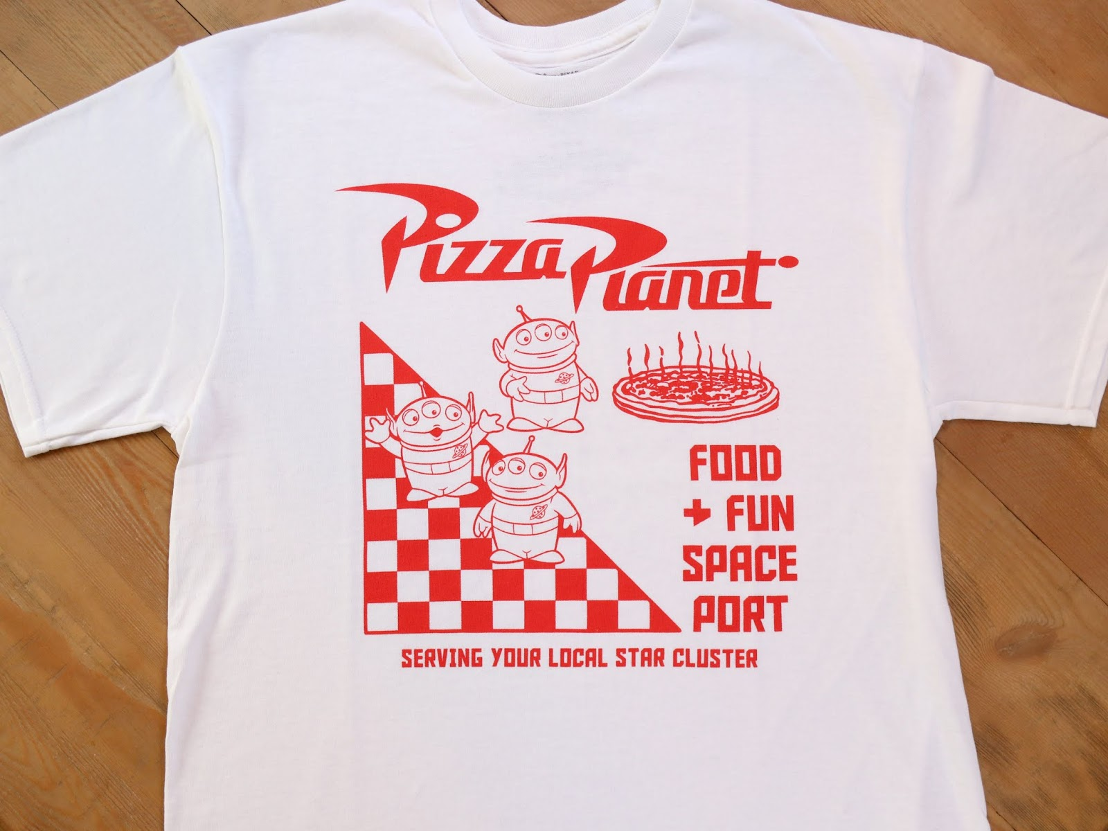 pizza planet men's tee