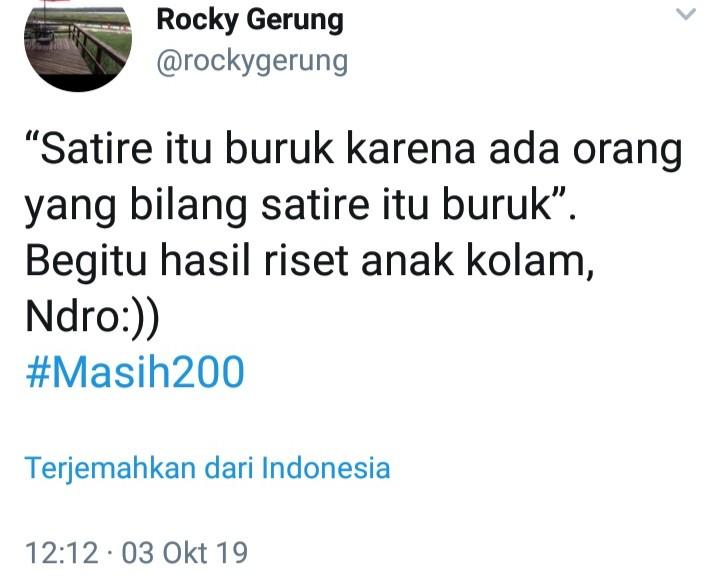 Rocky Unggah Hasil Riset Anak Kolam, Netizen: Pakai Dukun