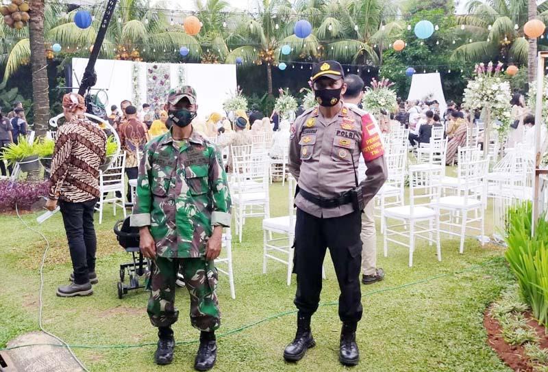 Danramil 02/Pondok Gede Bersama Muspika Kecamatan Jatisampurna Pantau pernikahan Sule dan Nathalie Holscher