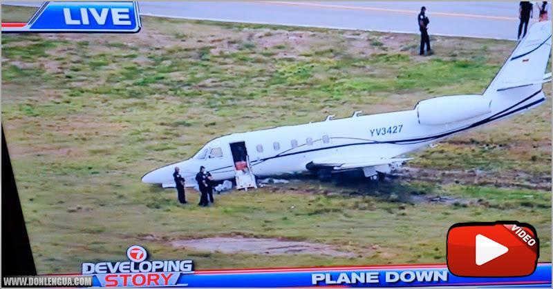 Avión venezolano se salió de la pista de un aeropuerto en Fort Lauderdale