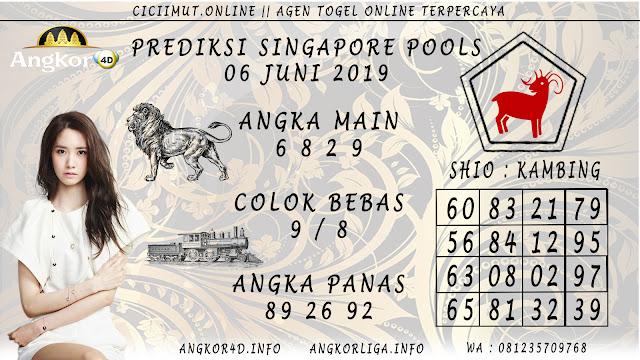PREDIKSI SINGAPORE POOLS 06 JUNI 2019