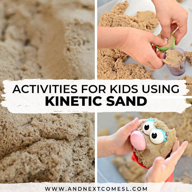 What is kinetic sand? Find out here and then discover fun kinetic sand activities for kids of all ages from toddlers and preschool aged kids and up!