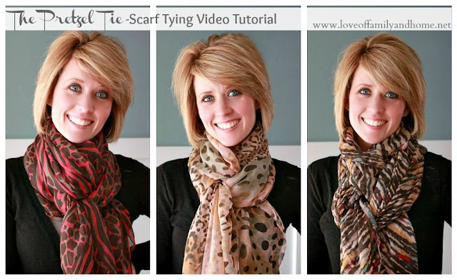 Scarf Tying Video Tutorial (The Pretzel Tie) - Love of ...