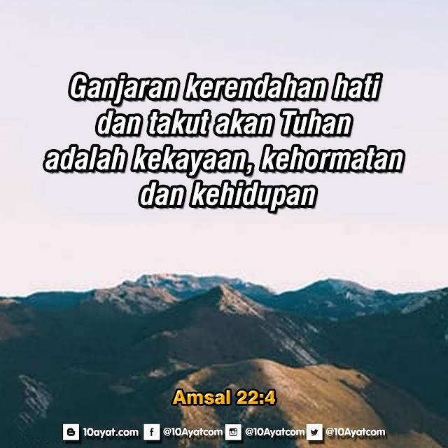 Amsal 22:4