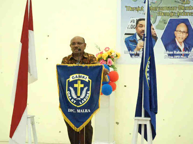 Petrus Beruatwarin Minta Pengurus DPC GAMKI Bangun Demokrasi dan Pembangunan Malra