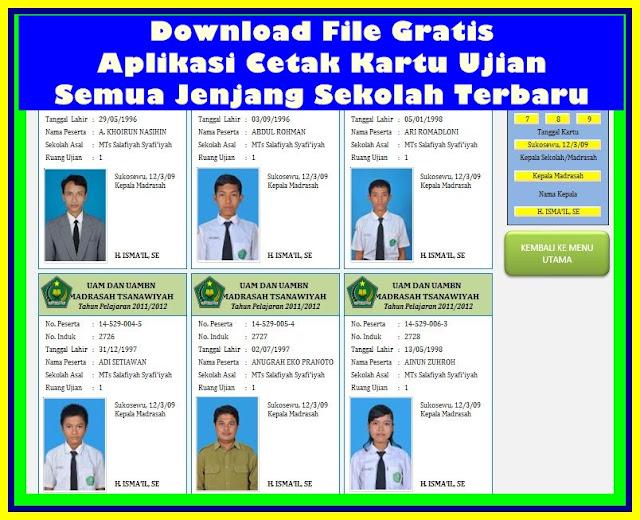 Download Aplikasi Cetak Kartu Ujian SD SMP SMA Terbaru Versi 2017