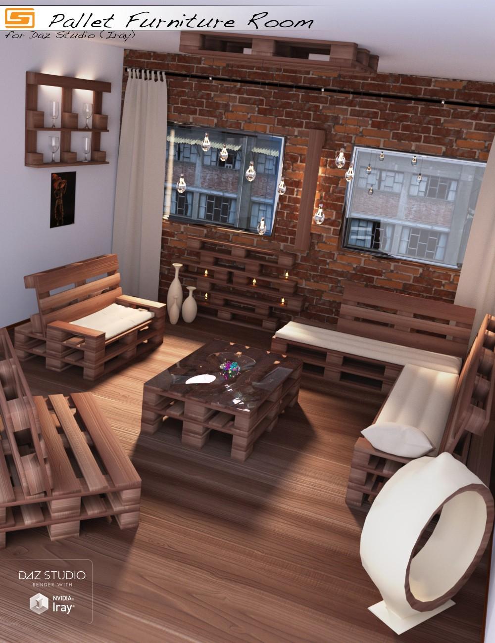Download DAZ Studio 3 for FREE!: DAZ 3D - Pallet Furniture ... on Pallet Room  id=56333