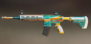 Pubg Mobile M416 skin: Safari