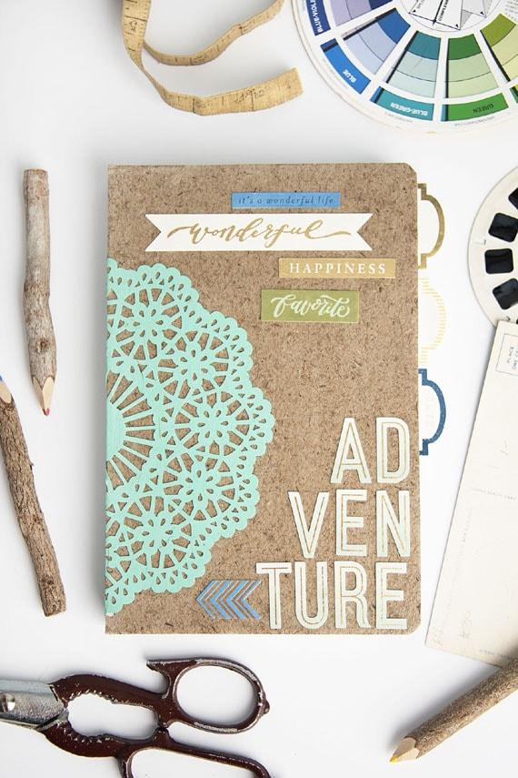 Adventure Notebook / Sketchbook from Mod Podge Rocks