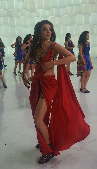 Kajal Agarwal Stills from Khaidi No 150 'Ammadu' Song