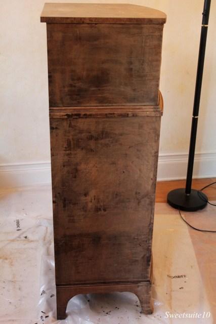 Stripped vintage dresser