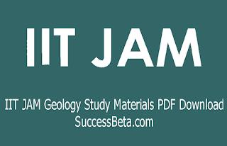 IIT JAM Geology Study Materials PDF Download