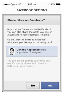 Share Instagram To Facebook