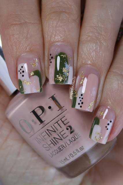 OPI Spring Abstract Nail Art