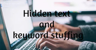 Hidden text and keyword stuffing