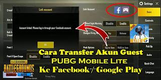 Cara Bind / Mengaitkan Akun Guest PUBG Mobile Lite