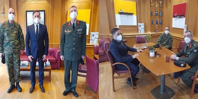 Αλεξανδρούπολη: Συνάντηση νέου Διοικητή ΧΙΙ Μ/Κ ΜΠ με τον Δήμαρχο Γιάννη Ζαμπούκη (ΦΩΤΟ)