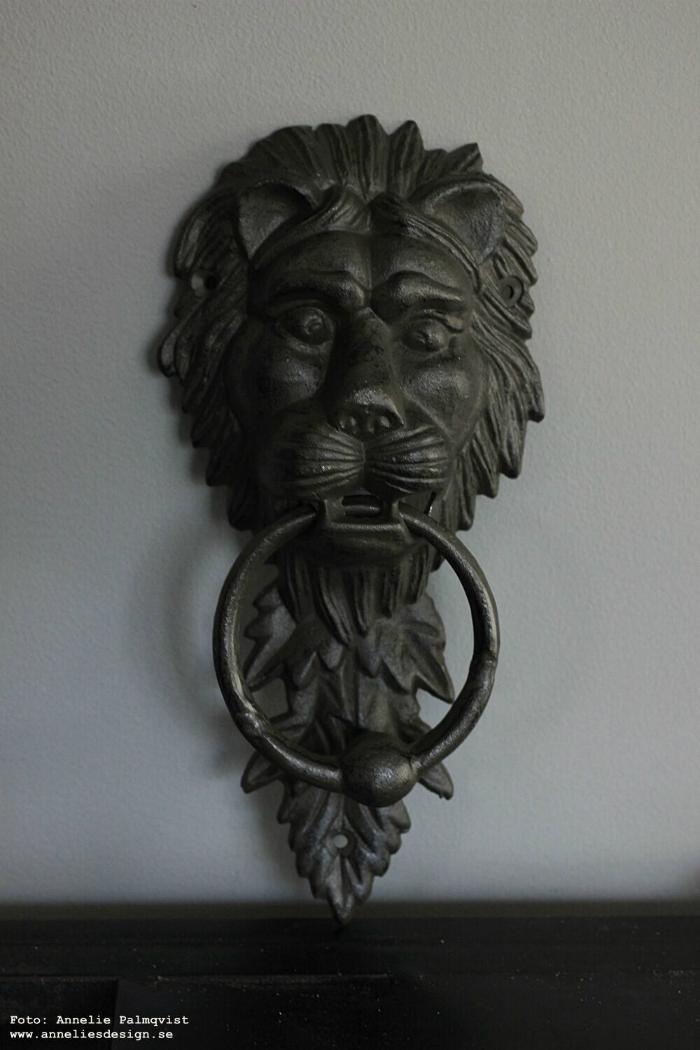 annelies design, webbutik, webbutiker, lejon, dörrknackare, dörrknack, lejonet, järn, ytterdörr, inredning, dekoration, husbygge, nyhet,