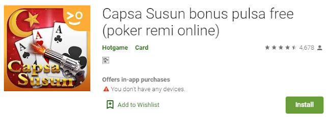 Game Online Capsa Susun - Dapatkan Pulsa Seca Gratis