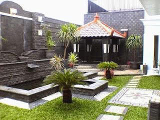 Tukang taman surabaya - taman dan water wall kolam koi