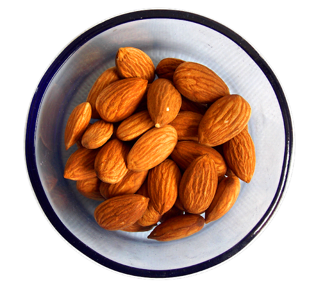 almonds and almonds calories.