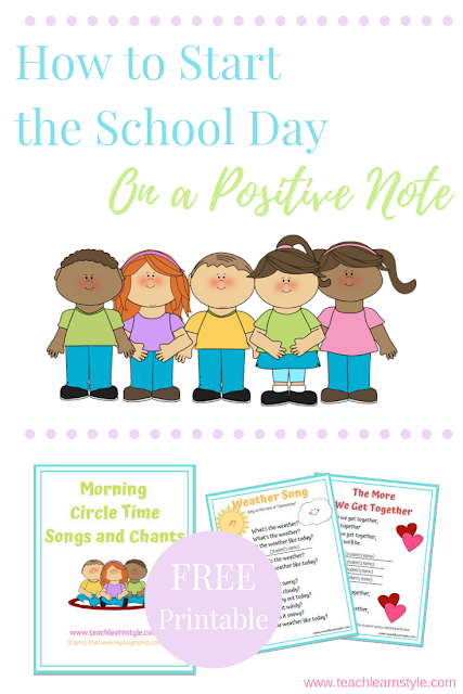 How to Start the School Day morning on a positive note with routines and circle time songs in the classroom