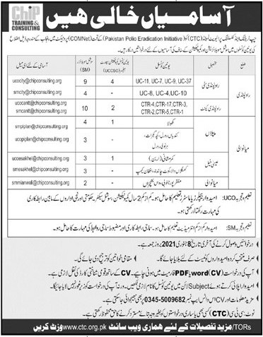 Chip Training And Consulting Private Limited Jobs 2021 - Online Apply - www.ctc.org.pk