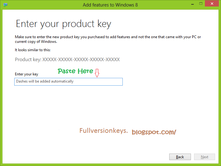 windows 8 pro full version product key