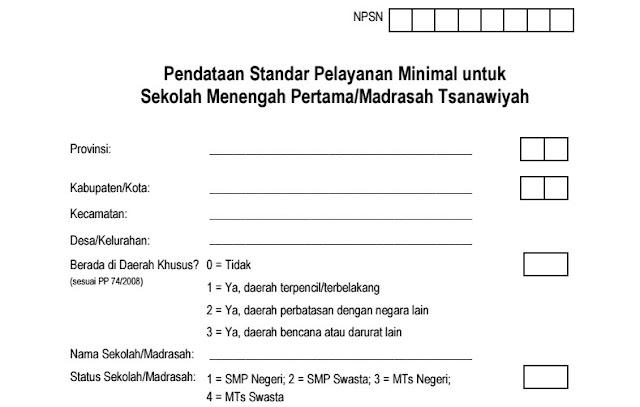 Kuisioner SPM untuk SMP/MTs Format PDF