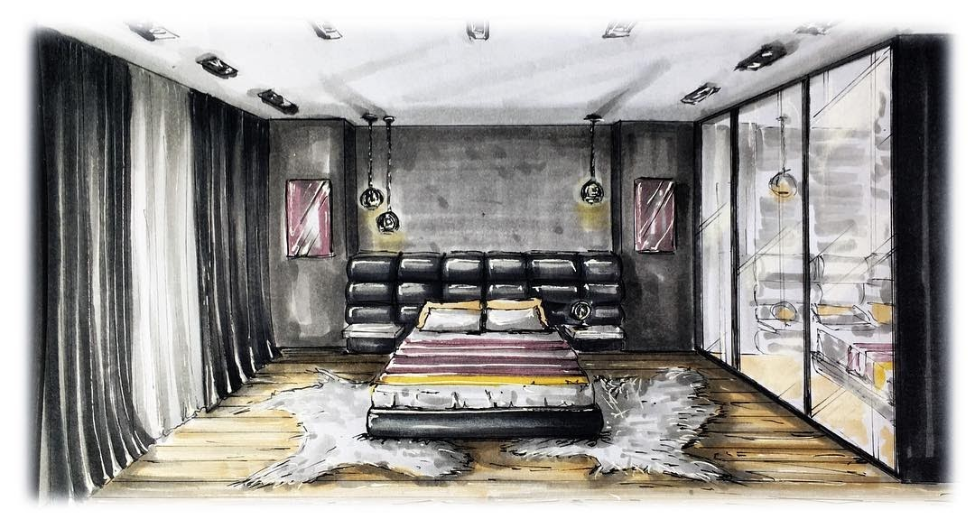 01-Master-Bedroom-Natalia-Pristenskaya-Дизайнер-интерьеров-Interior-Design-Sketches-www-designstack-co