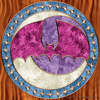 Stained Glass Bat