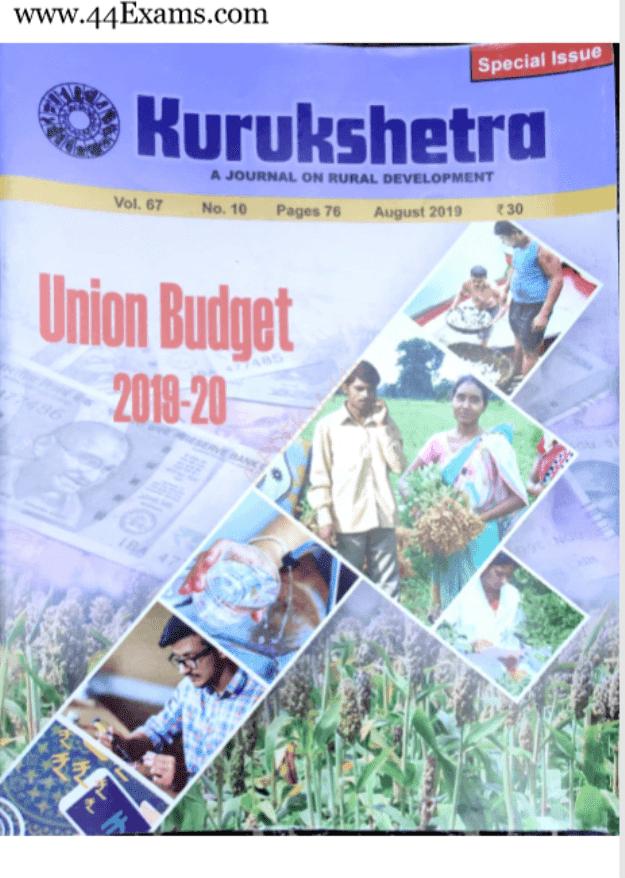 Kurukshetra-Current-Affairs-August-2019-For-UPSC-Exam-PDF-Book