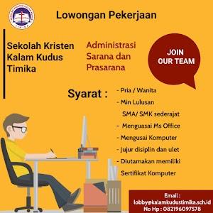 Lowongan Kerja Tenaga Administrasi dan Sarpras