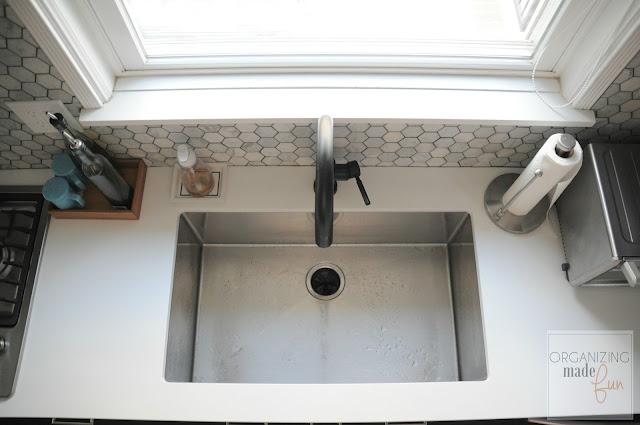 Black matte, touch sensitive Brizo faucet :: OrganizingMadeFun.com