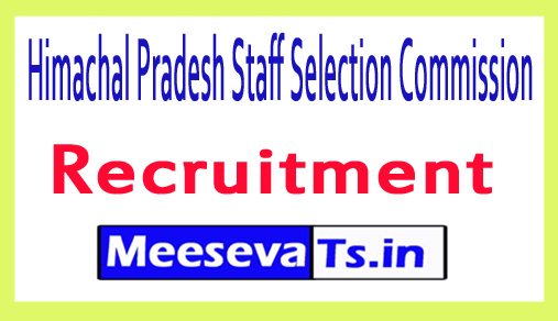Himachal Pradesh Staff Selection Commission HPSSSB Recruitment