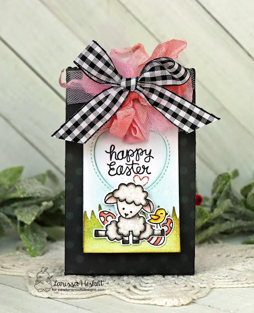 Sheep Easter Treat bag by Larissa Heskett | Baa Stamp Set and Land Borders Die Set by Newton's Nook Designs #newtonsnook #handmade