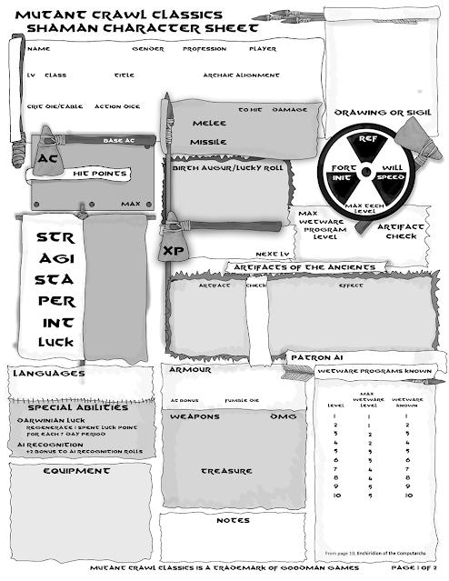 Shaman Character Sheet (Version 3): Page 1