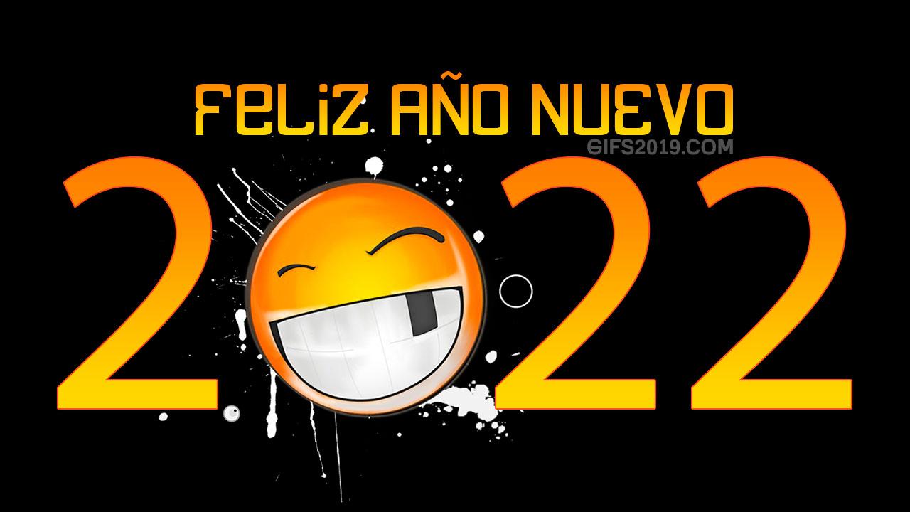 feliz año nuevo 2022 emoticon